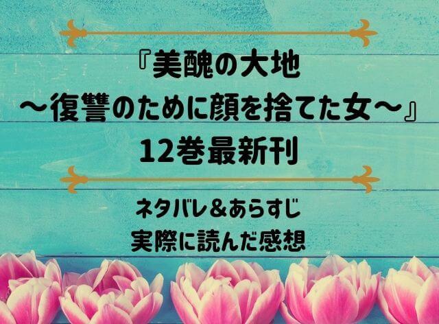 「美醜の大地~復讐のために顔を捨てた女~」12巻最新刊のネタバレ記事アイキャッチ