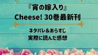 「宵の嫁入り」Cheese! 30巻最新刊のネタバレ記事アイキャッチ