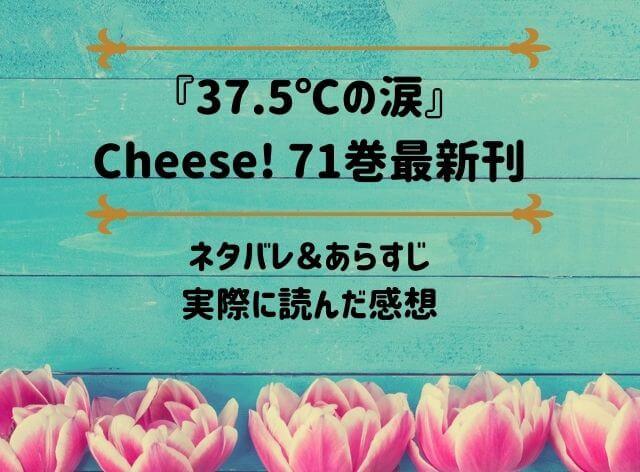「37.5℃の涙」Cheese! 71巻最新刊のネタバレ記事アイキャッチ